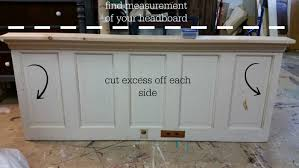 how to up cycle an old door into a headboard u2014 roots u0026 wings