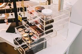 Under Desk Storage Drawers by Makeup Storage Traycee Unforgettable Clear Storage Drawers For