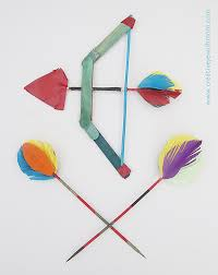 popsicle stick bow with skewer arrows creative jewish mom