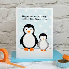 penguin u0027 birthday or christmas card from baby child by jenny