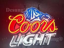 vintage coors light neon sign coors neon beer signs ebay