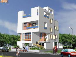 Architectural Design For Apartments With Minimalist Exterior - Apartment exterior design