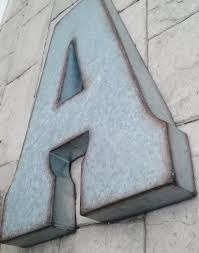 sale x large metal letter zinc steel initial home room decor signs