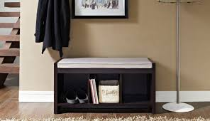 100 nornas bench with storage dining room antique brown