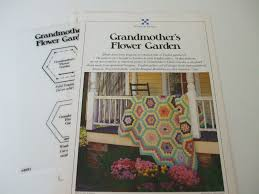flower garden quilt pattern grandmother u0027s flower garden english patchwork quilt u0026 pillow
