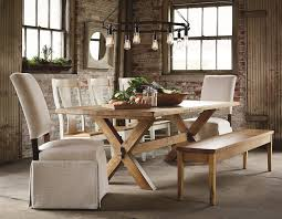 kitchen table rectangle dining table with bench solid wood