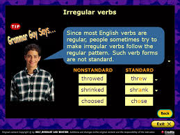 understanding verb forms what are the principal parts of verbs
