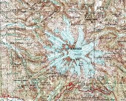 Washington State Topographic Map by Lab Streams