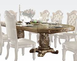 traditional dining table vendome gold by acme furniture ac63000