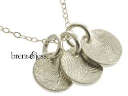 custom necklace charms from www brentjess sterling silver custom family fingerprint