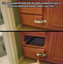 mom installs lock on bathroom drawer funny meme funny memes