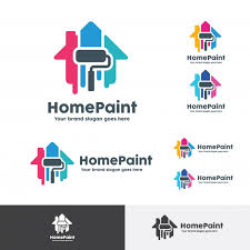 Home Decoration Logo House Paint Logo Home Decoration Company Identity Vector