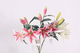 Casablanca Lily Artificial Flowers Easter Lily Flower Wedding Decoration