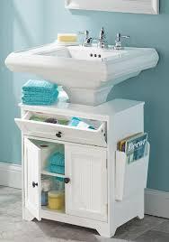 ronnskar under sink shelf smarte løsninger til små bad badkamer pinterest pedestal sink