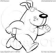 cartoon clipart of a black and white max dog character running