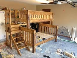 Wood Bunk Bed Plans Bedroom Wood Bunk Beds Mattress Diy With Stairs