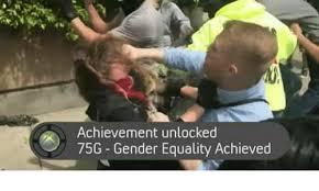 achievement unlocked 75g gender equality achieved meme on me me