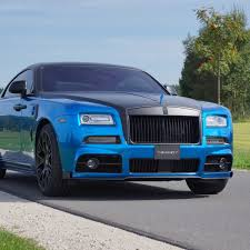 mansory cars 2015 2015 mansory rolls royce wraith blue luxury car front view full hd