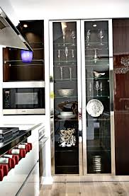 modern kitchen cabinets with glass doors home design ideas