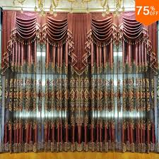 double window treatments luxury euro curtain embroidery style for double window together in