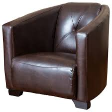 bowman leather club chair brown transitional armchairs and