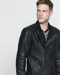 mens leather biker jacket zara mens leather biker jacket cairoamani com