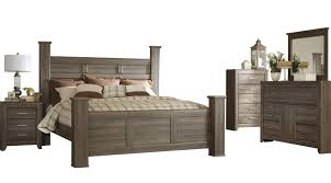 king poster bedroom set ashley furniture juararo 2pc bedroom set with king poster bed the
