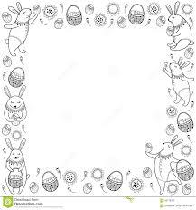 outline rabbit stock vector image 49693410