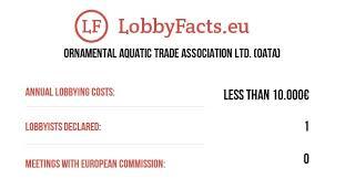 ornamental aquatic trade association ltd oata lobbyfacts database