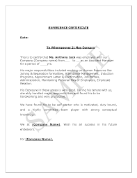 How To Write A Business Letterhead by Experience Certificate