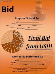 bidding proposal sample bid proposal template 6 best proposal