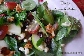 winter spinach salad your homebased