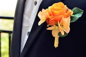 Groom S Boutonniere Wedding Dresses Flowers Real Touch The Rose Corsages Handmade