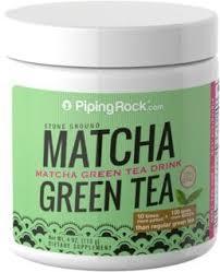 Teh Hijau Serbuk green tea matcha powder 4 oz 113 grams jar piping rock health