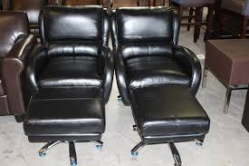 Black Leather Office Chair Furniture Executive Black Leather Swivel Office Chair With