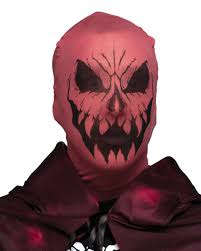 scary evil devil demon stocking fabric mask costume accessory