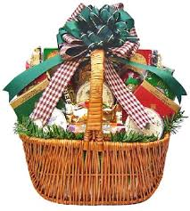 christmas basket meat cheese nuts christmas gift basket size