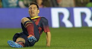 Lionel Messi Leg Barcelona S Lionel Messi Out 6 To 8 Weeks With Another Leg Injury