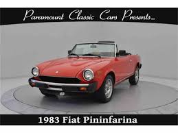 fiat roadster classic fiat spider for sale on classiccars com
