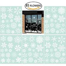 Amazon Uk Christmas Window Decorations by 42 Original Snowflake Window Clings By Articlings Fabulous