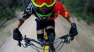 commencal 2016 100 goggle racecraft gopro testing new pov face shot on mountain bike in toulon