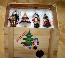kurt adler polonaise pan ornaments in wooden crate ebay