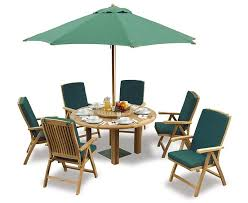 6 seater outdoor dining table outdoor dining set with titan round table 1 5m 6 bali reclining chairs