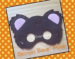 Brown Bear Halloween Costume Brown Bear Mask Etsy