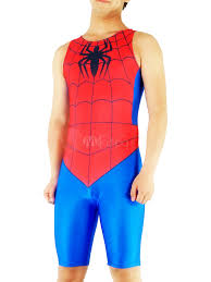halloween spiderman costume halloween spiderman zentai suit half length lycra spandex bodysuit