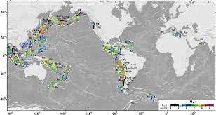 global zone map global correlations between maximum magnitudes of subduction zone