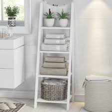 Free Standing Bathroom Shelves Free Standing Shelves Wayfair Co Uk