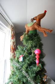 charming doodle sew it build it and rudolph jumps over the tree