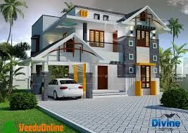 2000 sq ft contemporary double floor home designs