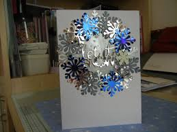 martha stewart snowflake punch tonic die words christmas cards